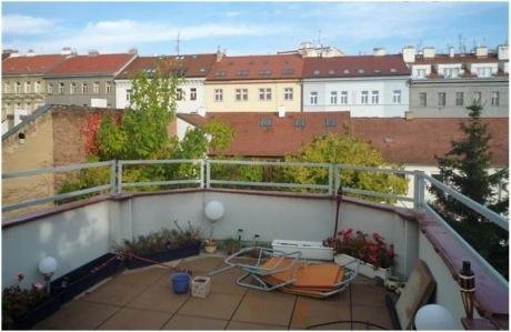 Pronájem, Byt  4+kk, 110 m2, Terasa 18 m2, Kozácká Praha