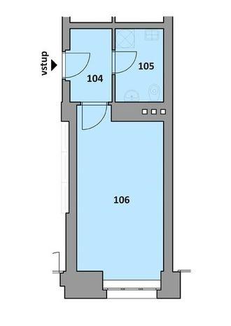 Prodej, nový nebytový prostor/kancelář o výměře 22,4 m2, v nově zrekonstruovaném domě v ulici Radlická, Praha 5 Smícho