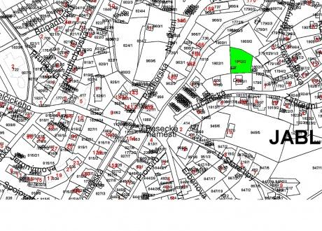 Prodej pozemku 1.525 m2, Jablonec nad Nisou - Jablonecké Paseky