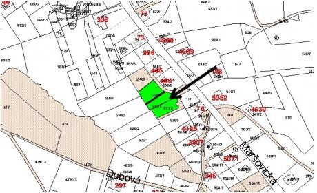 Prodej stavebního pozemku 1.125 m2,Jablonec nad Nisou - Kokonín