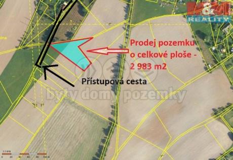 Prodej, zahrada, 2 983 m2, Kramolna