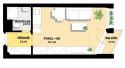 Prodej, Byt 1+kk, celkem 36,4 m2, Balkon 1.5 m2, Sklep 1.7 m2, parking 11 m2, Praha Hostivař, Hornoměcholupská - 1