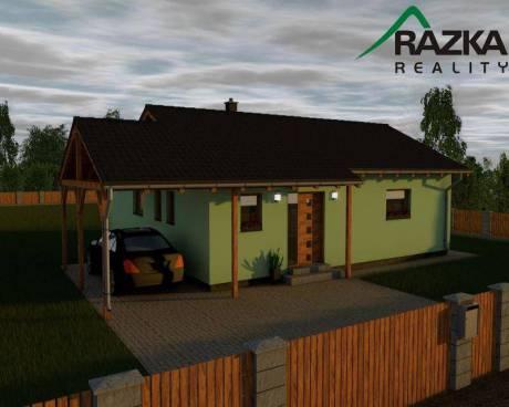 Novostavba RD 3+kk o užitné ploše 92 m2, zahrada 878 m2, Lom u Tachova
