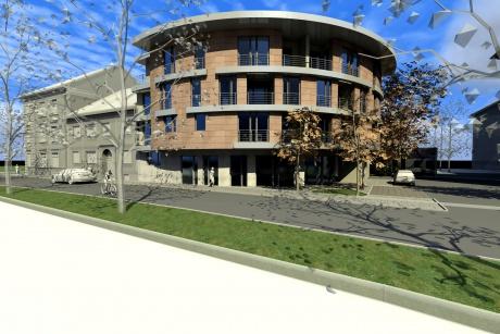 Atypický byt v novostavbě 2+kk 66 m² + balkon v centru Nymburka s garáží a sklepem