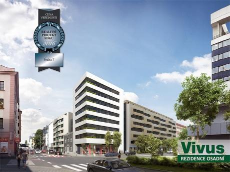 Prodej bytu 2+kk, 64 m² s předzahrádkou a terasou 55 m² v Rezidenci Vivus Osadní