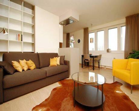 Designově řešený byt 2+kk (69,6 m2), pronájem, Praha 8 - Libeň, Březenská, lodžie 14 m2, garáž