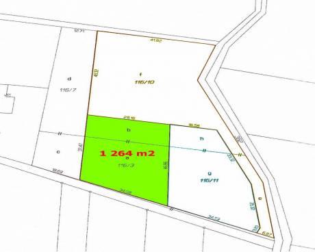 Prodej Stavební pozemek, 1.264 m2, Pazderna