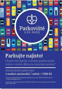 Parkovací stání k pronájmu v samém centru Brna