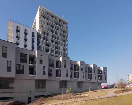 Nový byt 1+kk, 35,5 m2, balkon 12 m2, Praha 5 - Stodůlky, ul. Medunova