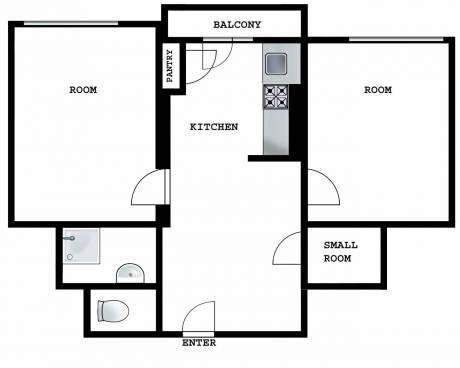 Pronajmu příjemný světlý byt 2+1, 62 m2, v cihlovém domě ve Vršovicích, ulice Lvovská 5.