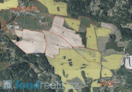 Prodej podílových pozemků Holušice u Mužetic a Kožlí u Čížové