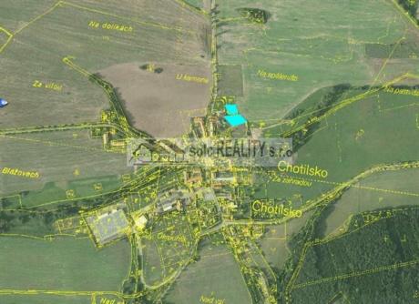 Krásné stavební parcely 1115 m2  a 722 m2 v Chotilsku, okr. Příbram