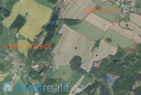 Prodej pozemků Skrýchov a Horní Němčice