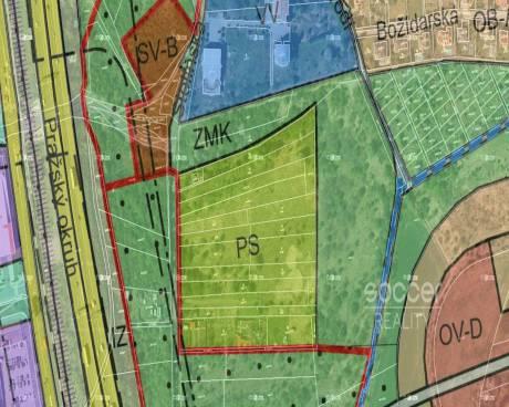 Investiční záměr, prodej 1/2 pozemků 2241 m2, katastrální území: Horní Počernice, Praha 9.