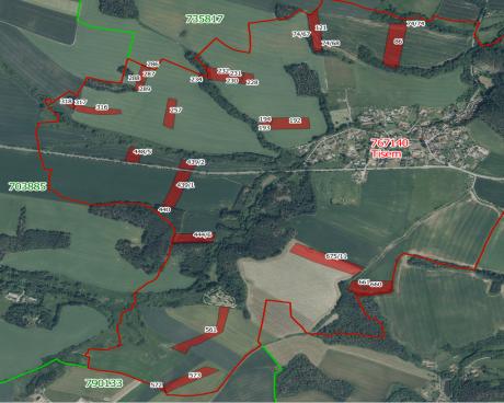 Prodej podílu na zemědělských pozemcích - k.ú. Tisem
